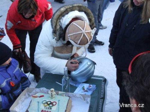 <p>sobota 14. února 2009 - zafoukané vlnky na Dujčáku</p>